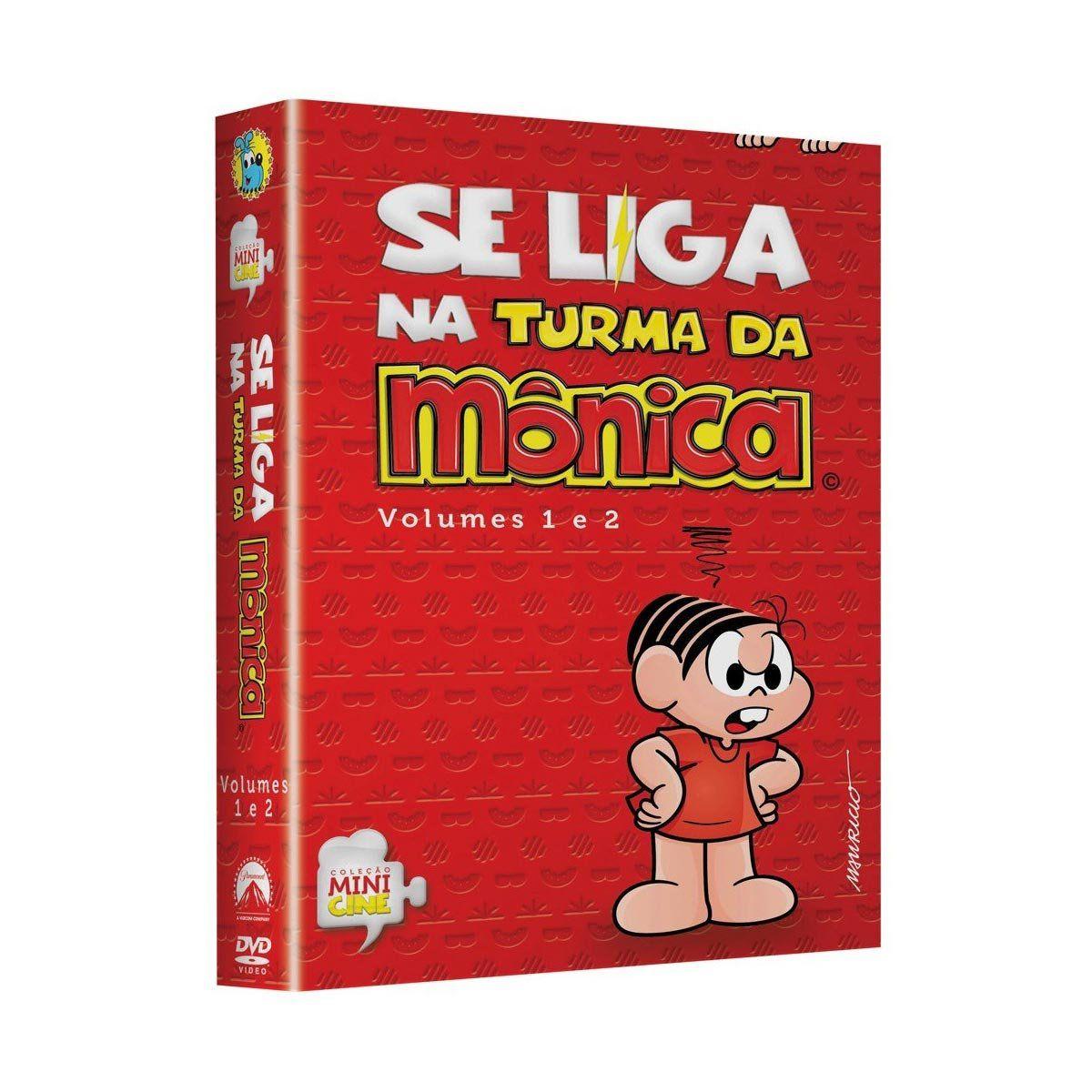DVD Duplo Se Liga na Turma da Mônica Vol. 1 e 2