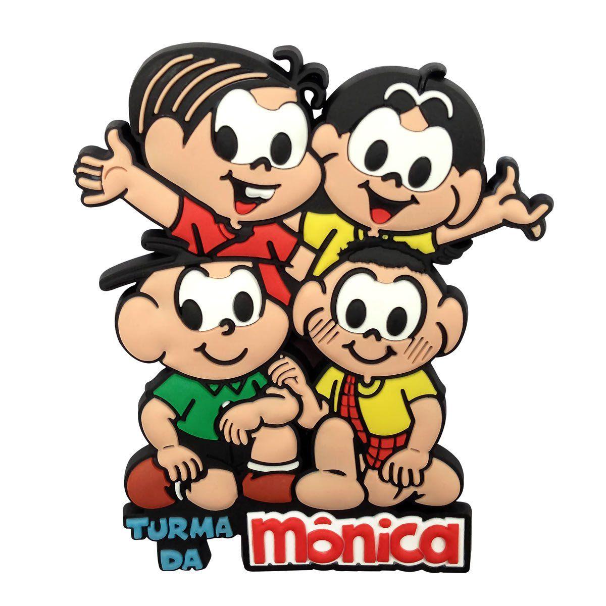 Imã Turma da Mônica A Turma Toda PVC-00263