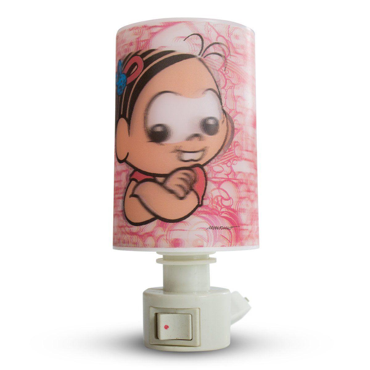 Luminária de Tomada Turma da Mônica Mônica Baby Modelo 2