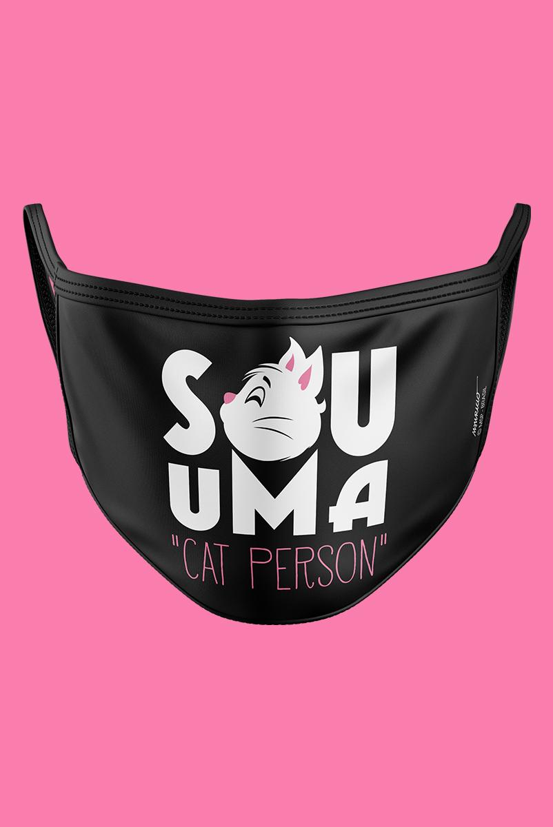 Máscara Turma da Mônica Sou uma Cat Person