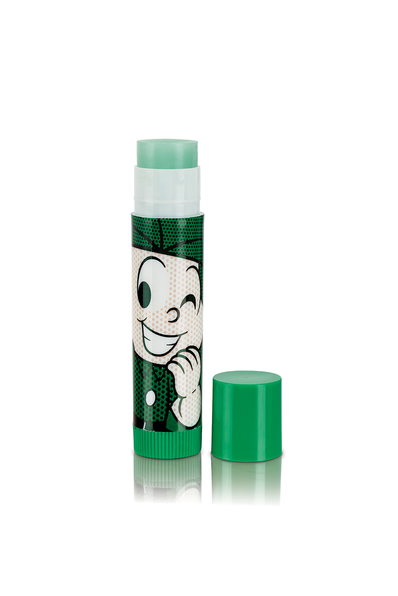 Meu Lip Balm Turma da Mônica Cebolinha Maça Verde Tubo