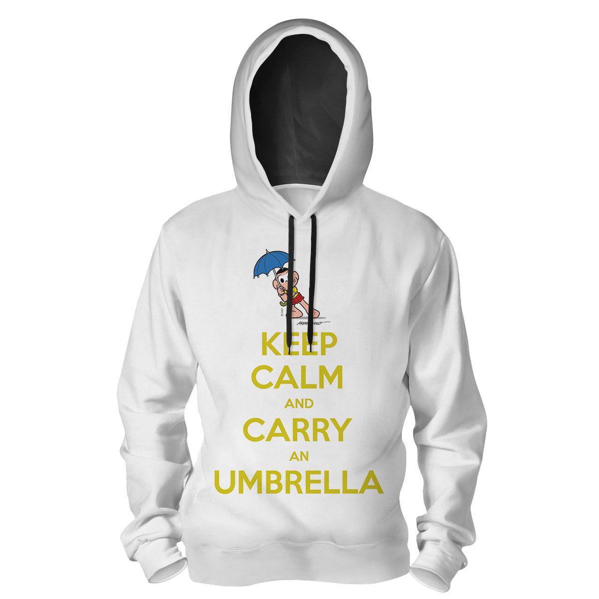 Moletom Turma da Mônica Cool - Keep Calm And Carry An Umbrella