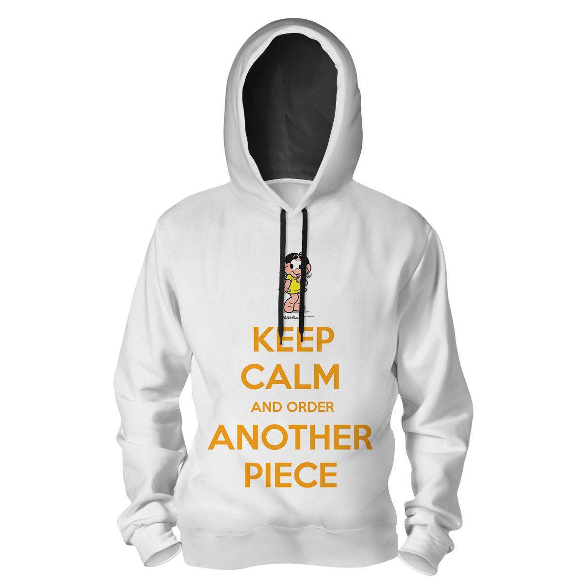 Moletom Turma da Mônica Cool - Keep Calm And Order Another Piece