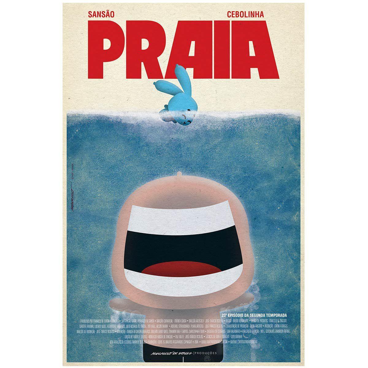 Poster Turma da Mônica Praia