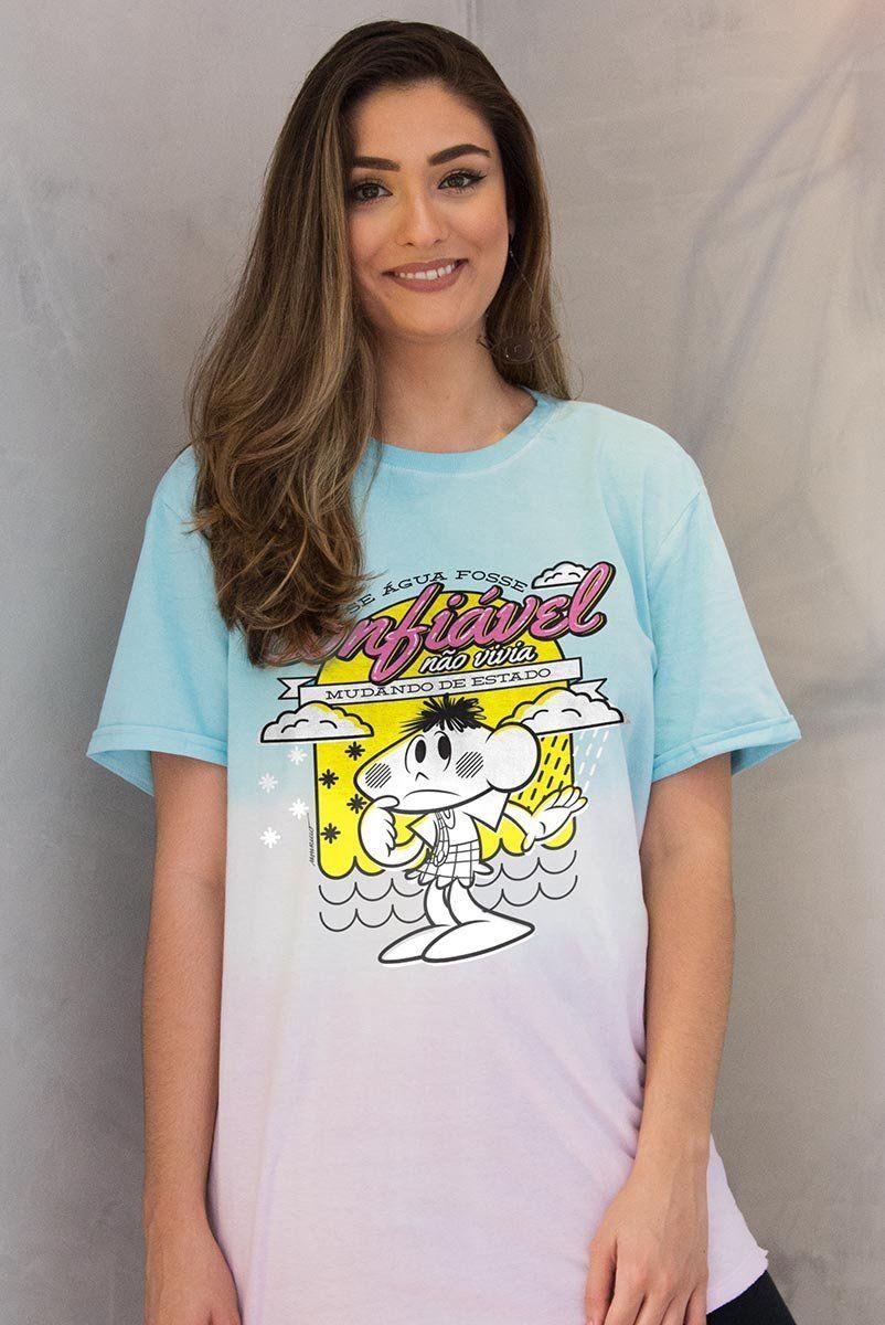 T-Shirt Feminina Turma da Mônica Cascão