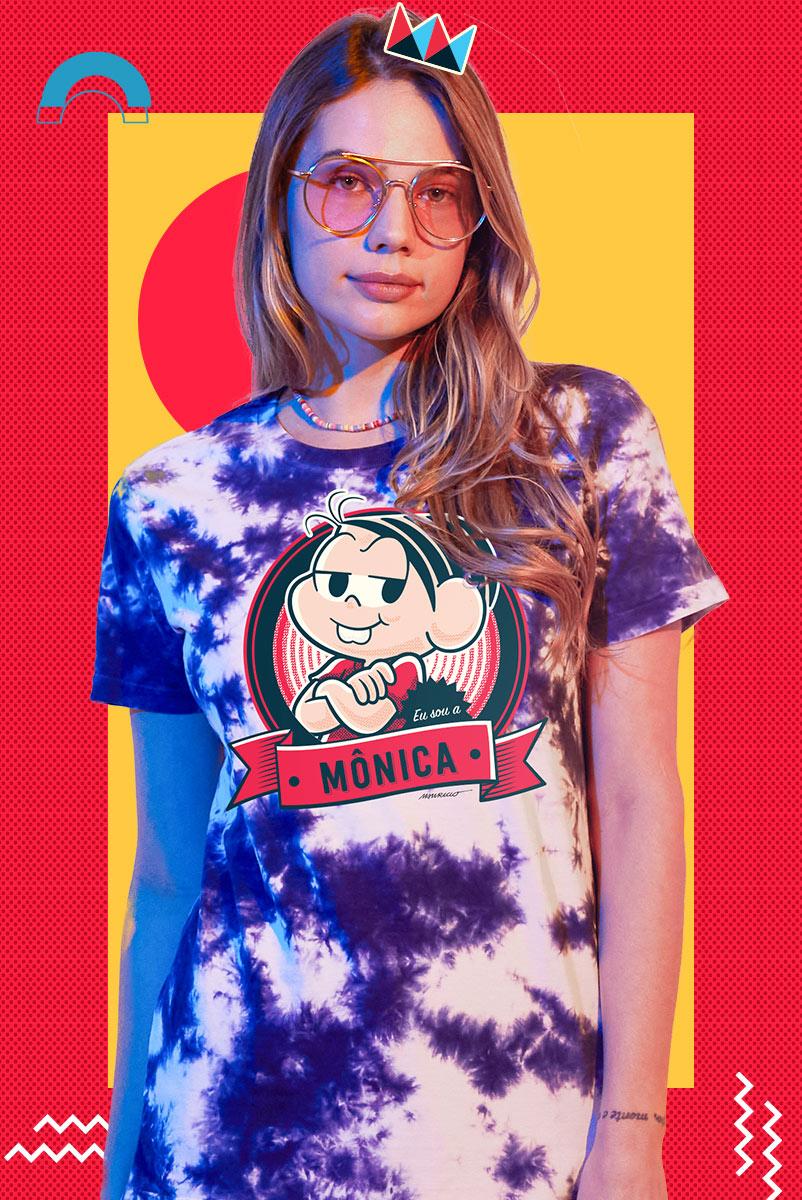 T-shirt Feminina Turma da Mônica Dona da Rua
