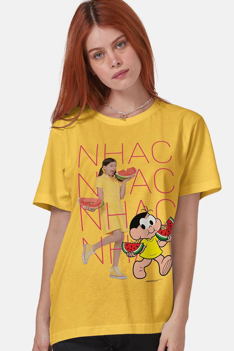 T-Shirt Feminina Turma da Mônica Laços Magali NHAC