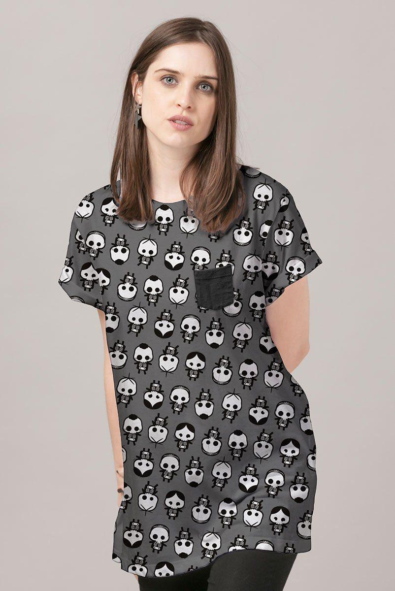 T-Shirt Feminina Turma da Mônica Raio X