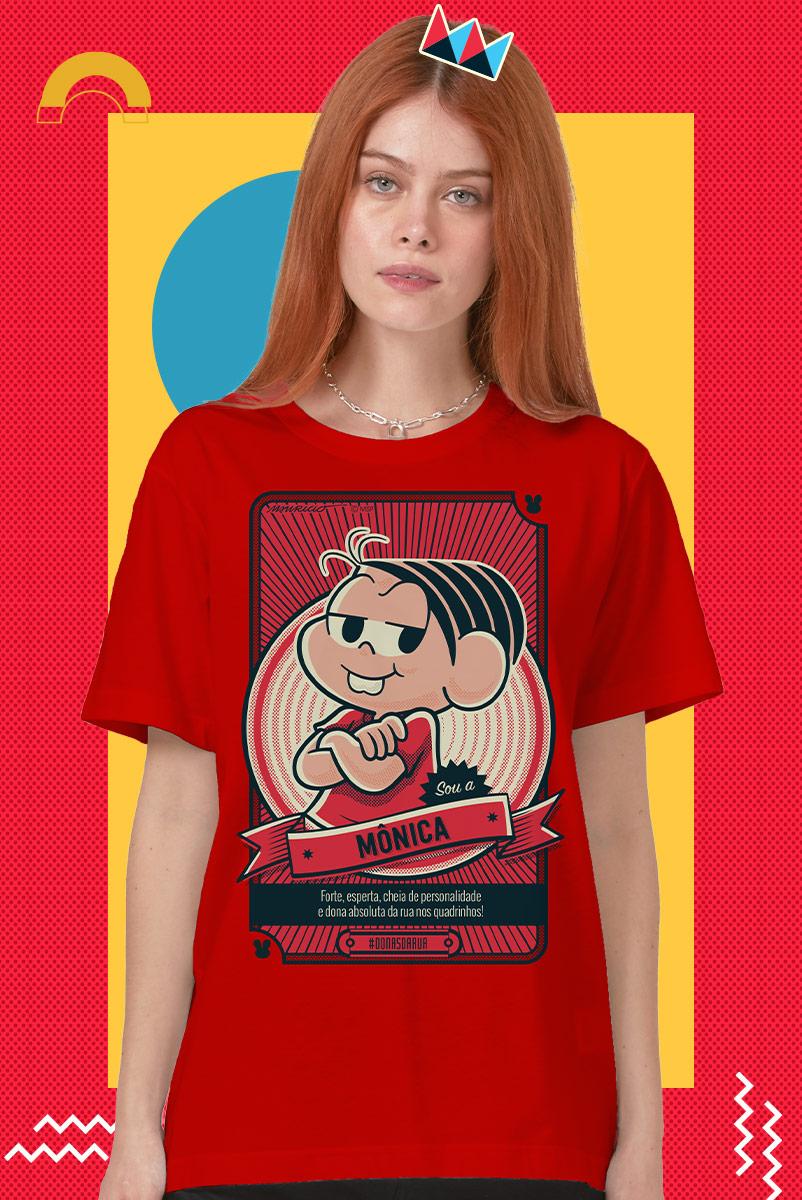 T-shirt Feminina Turma da Mônica Sou a Mônica Dona da Rua