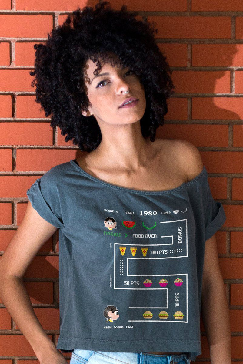 T-shirt Premium Feminina Magali 50 Anos High Score