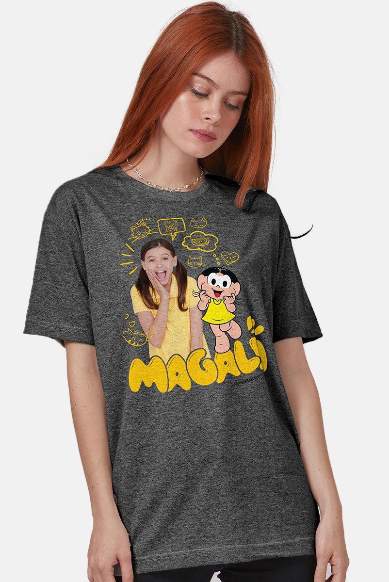 T-shirt Premium Feminina Turma da Mônica Laços Magali em Dose Dupla