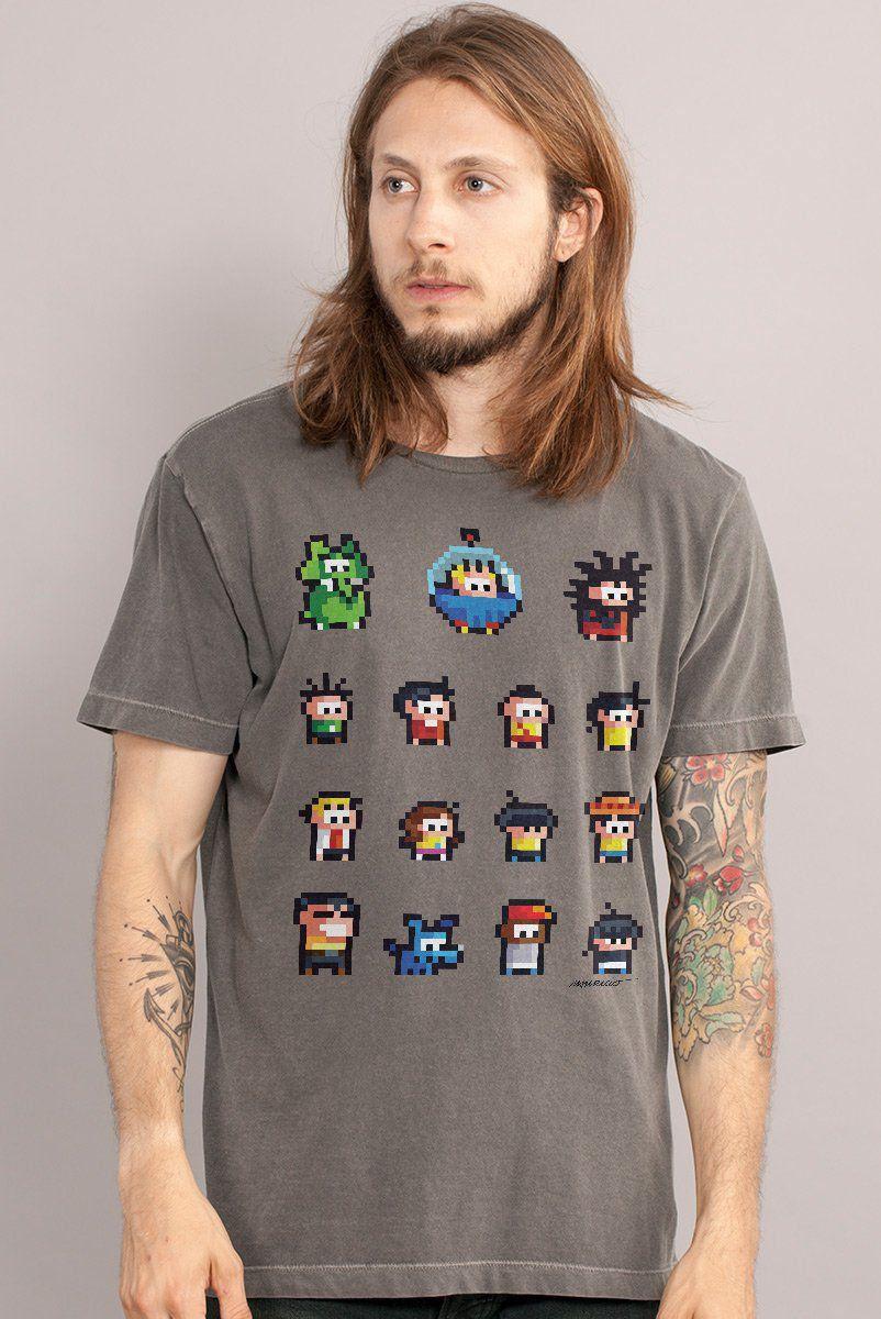T-shirt Premium Masculina Turma da Mônica Guarda dos Coelhos