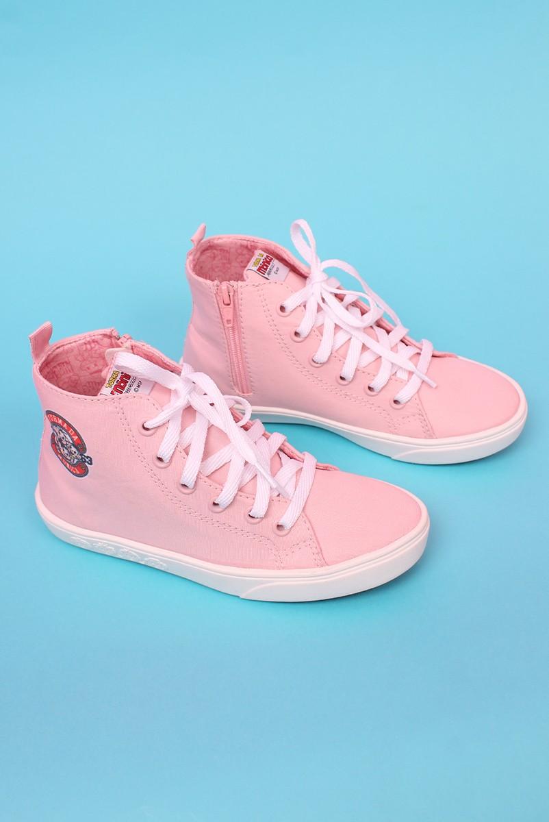 Tênis Cano Alto Turma da Mônica Candy Pink