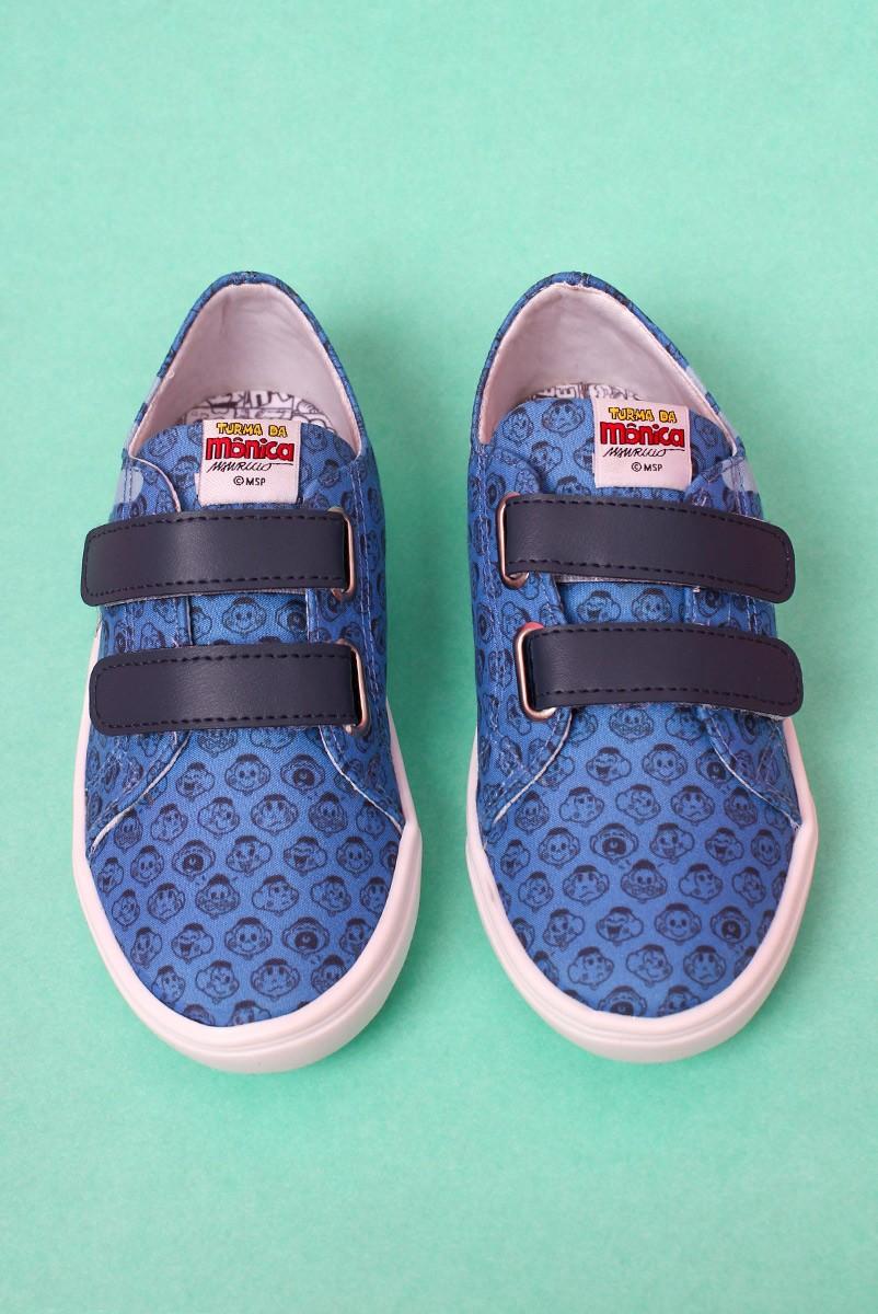 Tênis com Velcro Turma da Mônica Icônico Blue