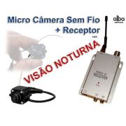 Mini Micro Camera S/ Fio Wireless +receptor C/ Visao Noturna