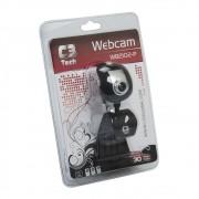 Web CAM C3 TECH WB2102P BSI USB 2.0 300K-30 MP com Microfone Preto e Prata