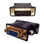 Adaptador DVI-I Dual LINK 24+5 Femea P/ VGA 15 Pinos Macho