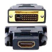 Adaptador DVI Macho X HDMI Femea Banhado a Ouro