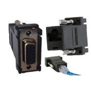 Adaptador Femea Conector VGA X Cabo de Rede RJ45