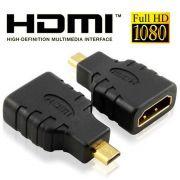 Adaptador HDMI Femea P/ Micro HDMI Macho Conversor P/ Cabo
