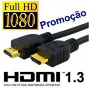 Cabo HDMI Ouro 1080P FULL HD P/TV LCD LED Projetor XBOX PS3