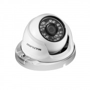 Camera de Seguranca Multilaser Dome TVI 720P LED 3.6MM ATE 20METROS 24 LEDS Metal Branca SE161