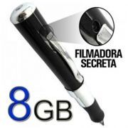 Caneta Espia Filmadora 8GB Audio e Video Resolucao 640X480