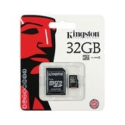 Cartao de Memoria Kingston 32GB Micro SDHC Classe 10 + ADAPT SD - SDC10/32GB