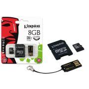 Cartao de Memoria Kingston 8GB Micro SDHC Classe 10 ADAP + Pen - MBLY10G2/8GB