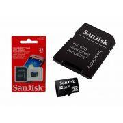Cartao de Memoria Sandisk Micro SD 32GB C/ Adaptador - SDSDQM-032G-B35A