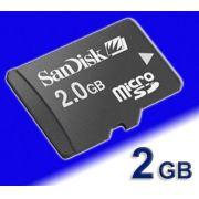 Cartao Memoria Micro SD 2GB P/ CELULAR/MP15- Como CARD SDHC