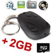 Chaveiro Espiao 2GB Camera Espia Controle ALTA Resolucao 2GB