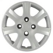 Calota Aro 14 Peugeot 206 Pressão Parafuso Falso Cromado - Prata