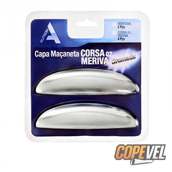 Capa Maçaneta Externa Corsa/Meriva 02/ 4 Portas Cromada