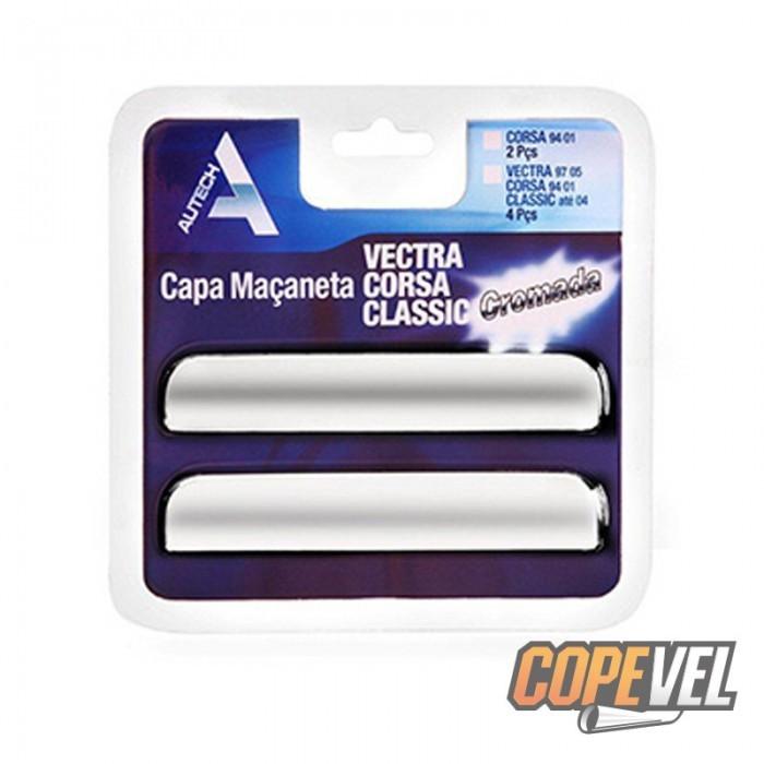Capa Maçaneta Externa Corsa/Vectra/Astra/Omega 4 Portas Cromada