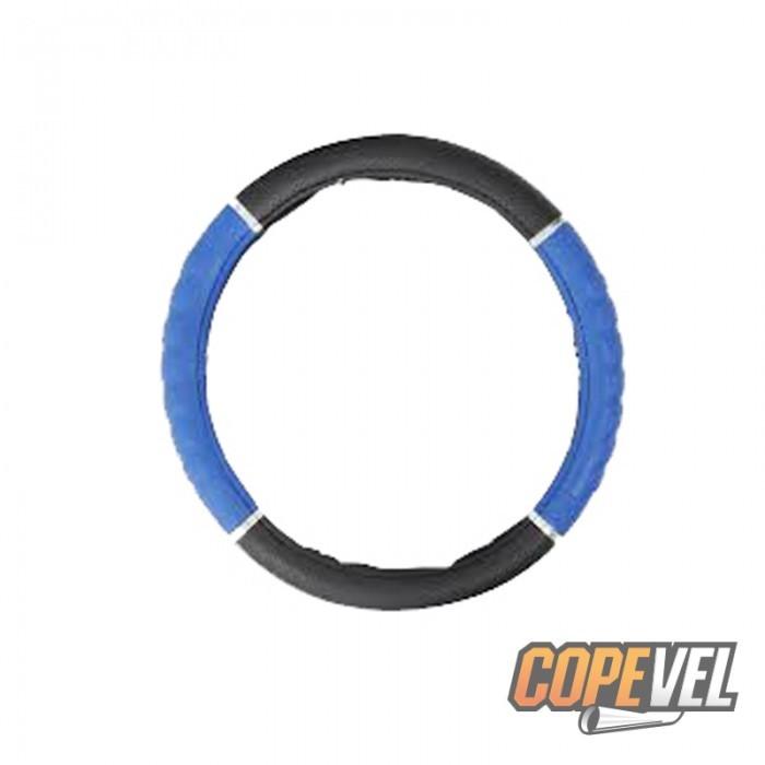Capa Volante Universal Tunning Detalhe Friso Cromado Azul