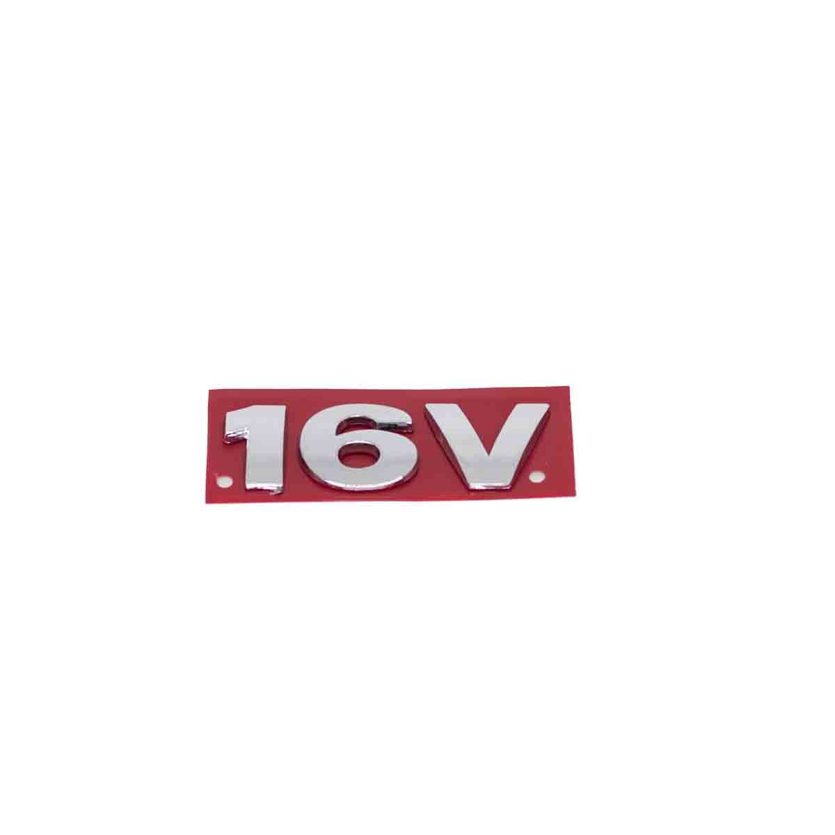 Emblema 16V VW Malas G3 Cromado