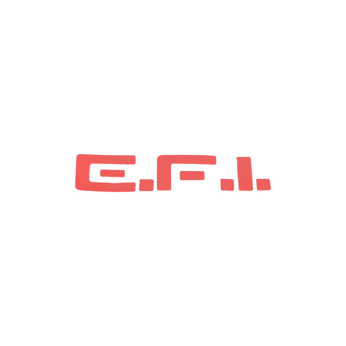 Emblema EFI Vermelho Adesivo