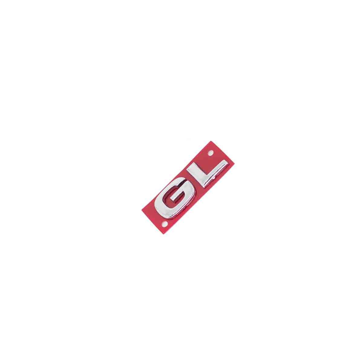 Emblema GL 02/03 Corsa/Astra/Meriva Cromado