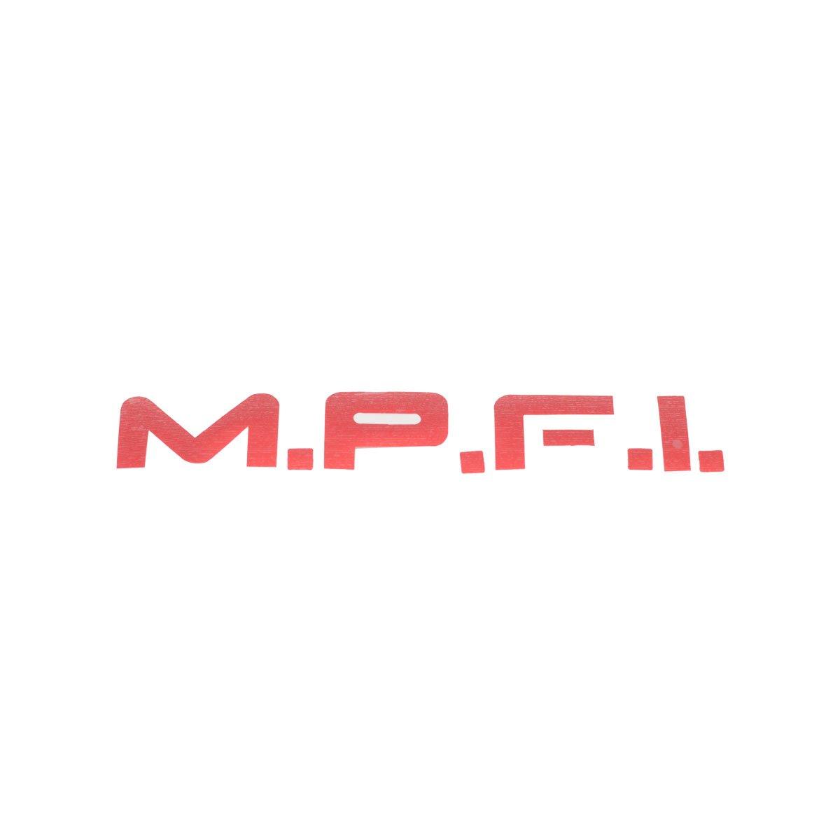 Emblema MPFI Vermelho Adesivo