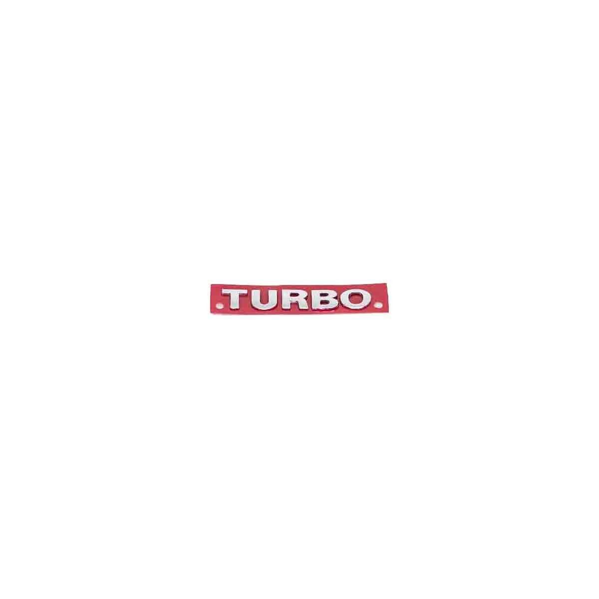 Emblema Turbo G3 Mini Cromado