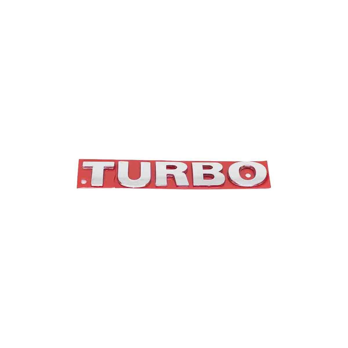 Emblema Turbo VW G3 Cromado