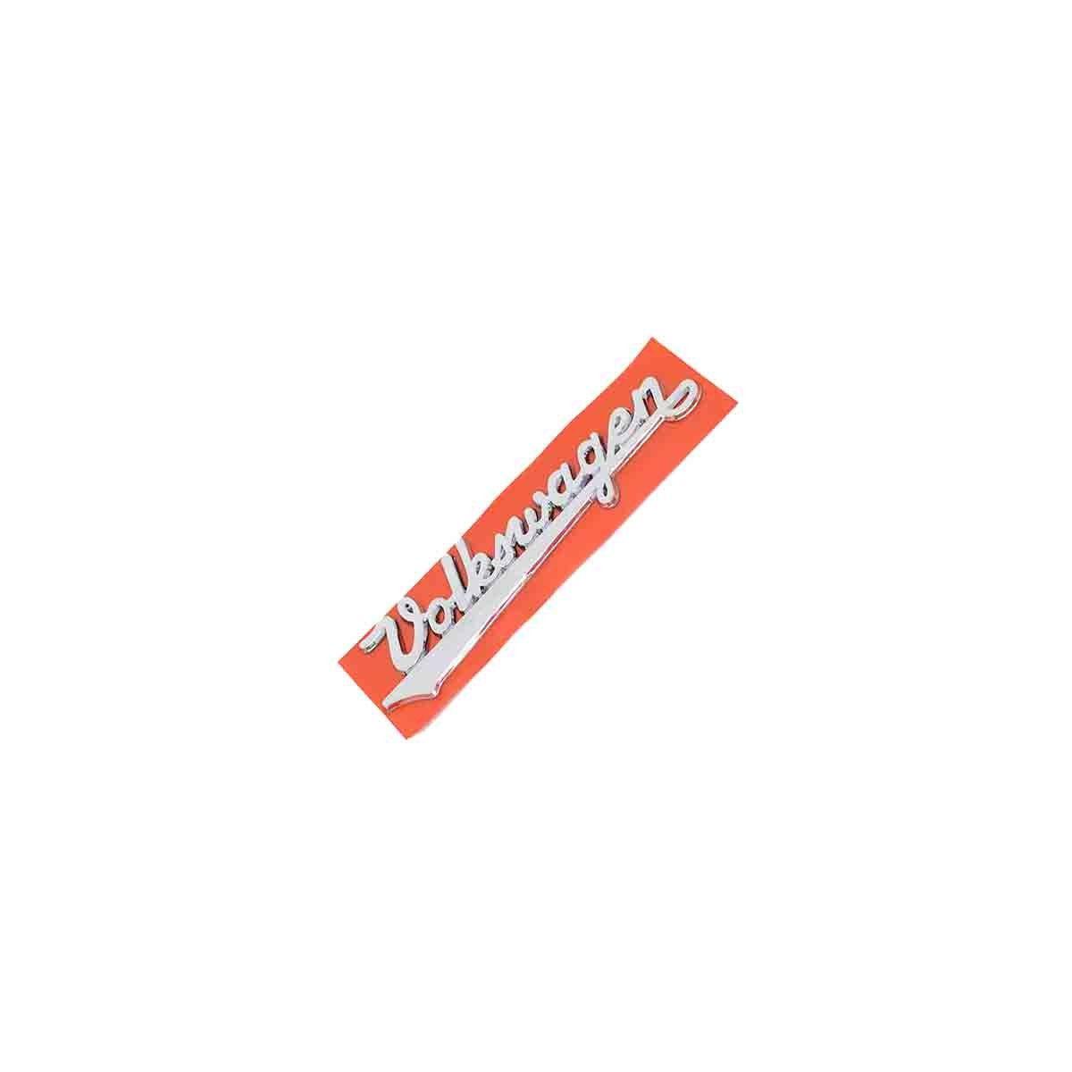 Emblema Volkswagen Manuscrito Cromado