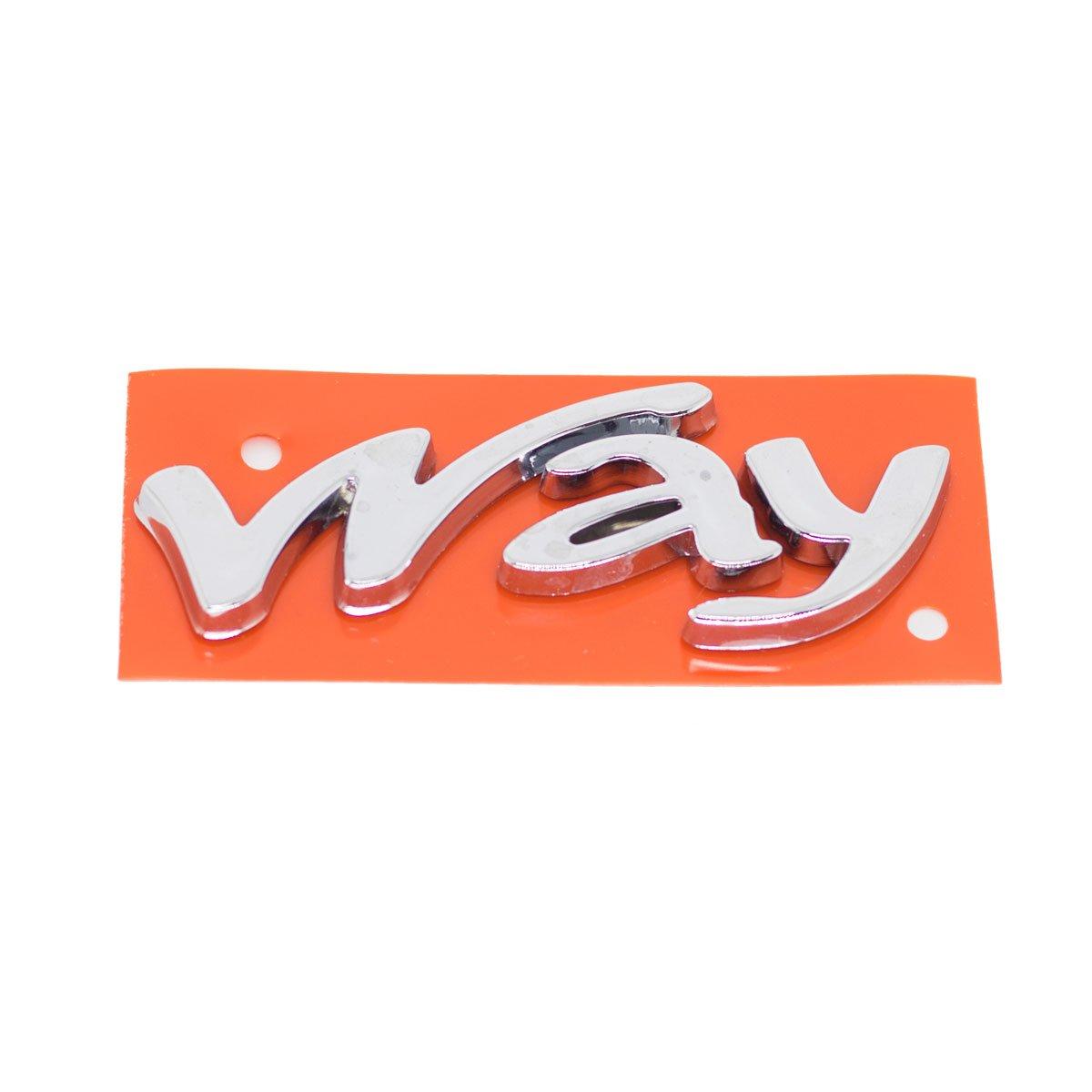 Emblema Way (Uno 11) Cromado