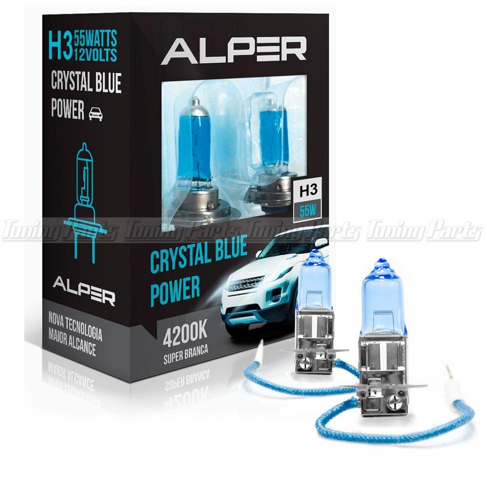 Lâmpada Super Branca Alper Crystal Blue Extreme H3 4200K