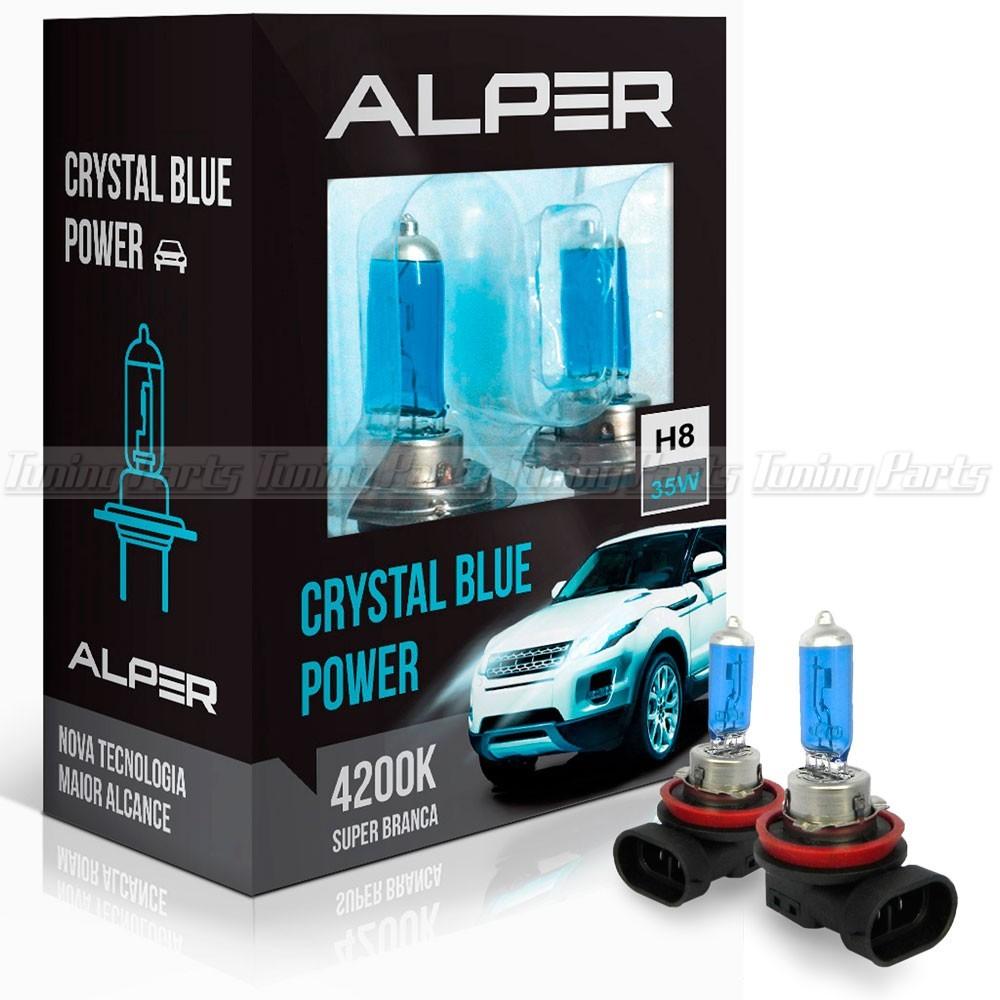 Lâmpada Super Branca Alper Crystal Blue Extreme H8 4200k
