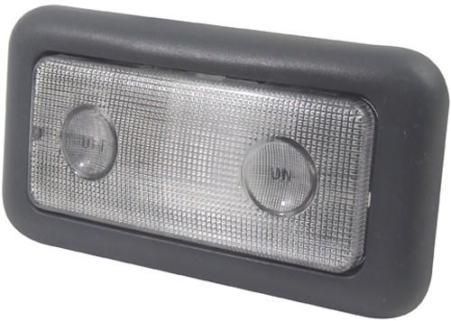 Lanterna Teto Palio 01/03 Central Cinza Escura Pequena