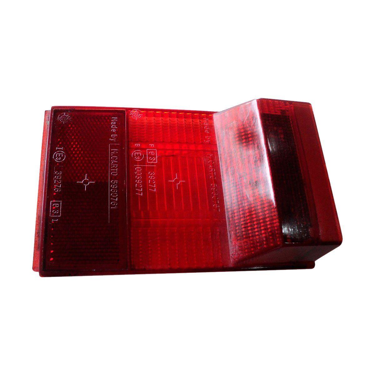 Lente Traseira Spazio 81/86 Reta C/ Luz Vigia Placa Vermelha Bilateral