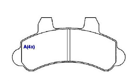 Pastilha Freio F 1000 95/ D 20 94/97/ Silverado 97/ Sistema Bendix