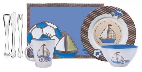 Jogo de Talheres Infantil Inox Le Petit 7pc Azul Tramontina